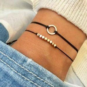 Jewelry - △ Dainty Black Boho Bracelet Set △